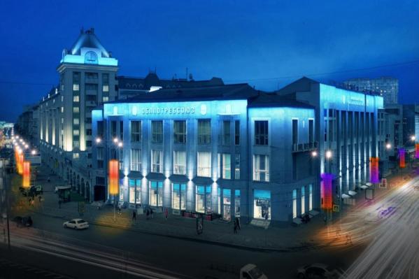 Упор сделали на праздничное освещение улиц, а вот одно из важных зданий площади Ленина — Болгарский дом — почти не отметили