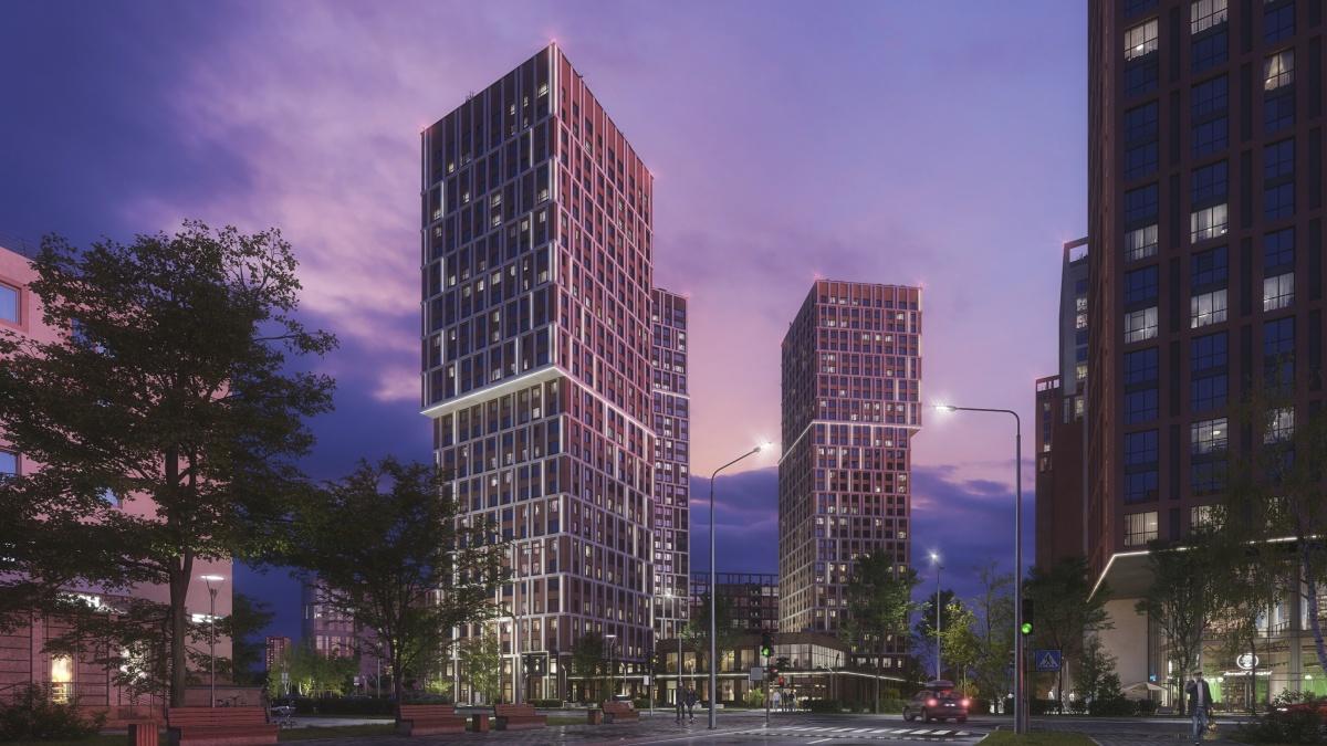 Первую очередь квартала составят 3 небоскрёба высотой 30, 33 и 34 этажа