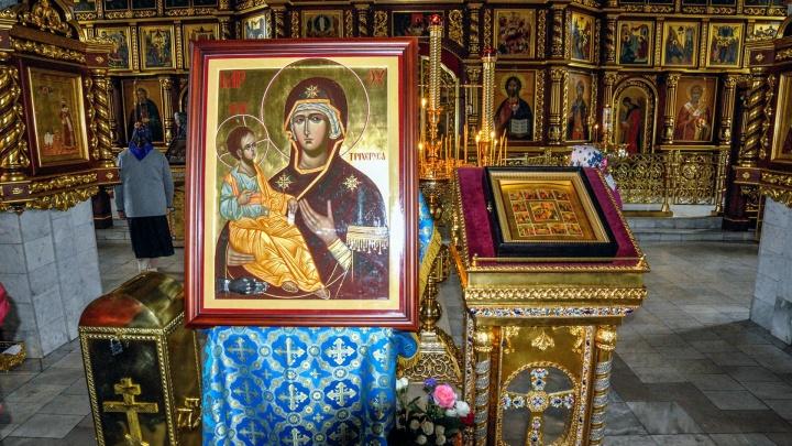 Поклониться святыне: в Башкирию из Афона прибыла Троеручица