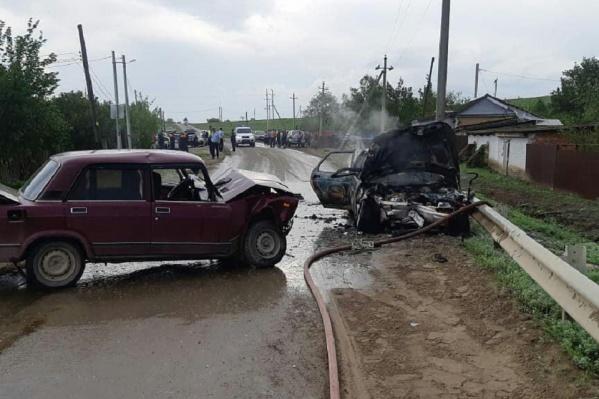 Спасатели оперативно потушили огонь