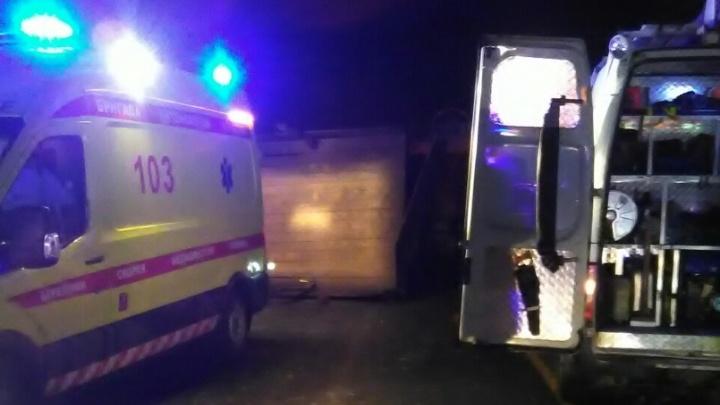В Прикамье столкнулись автобус и два грузовика: один человек погиб