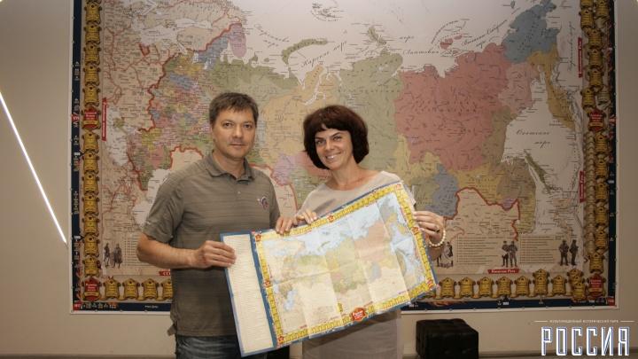 История России — в космосе: самарский музей отправил карту страны на орбиту