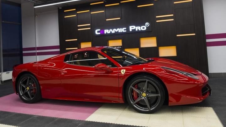 Знак качества: Ferrari 458 и Mercedes GT AMG защитили в екатеринбургском автоцентре Ceramic Pro