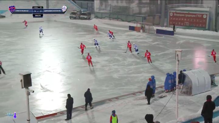 Хоккей с мячом: «Сибсельмаш» обыграл «Динамо»