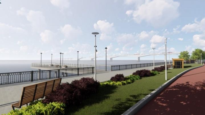 В Перми возобновили реконструкцию набережной. Скоро там появятся детская площадка и беговая дорожка