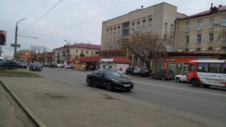 На одной из улиц Кургана дорожная разметка будет желтого цвета