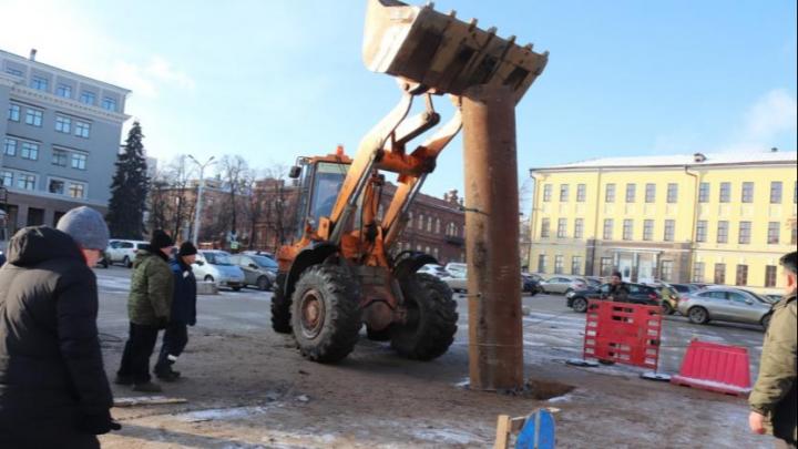 На Советской площади в Уфе впервые за много лет установят новогоднюю елку