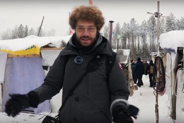 На Шиесе Илья Варламов побывал в ноябре