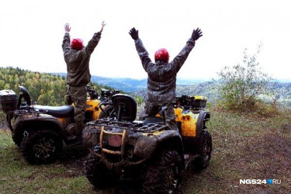 Путешествие на квадроциклах по осеннему лесу обошлось всего в 2,5 тысячи рублей