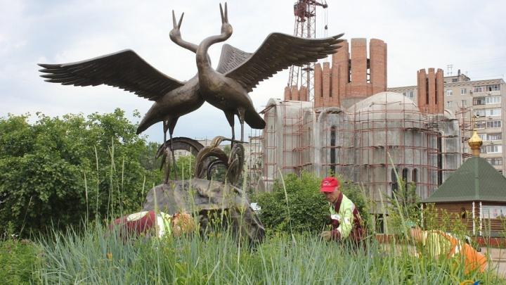 Уфимский сквер пополнится пятиметровой скульптурой журавлей