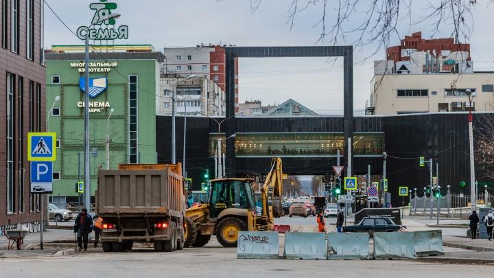 В Перми откроется сквозной проезд по улице Горького рядом с ТРК «Семья»