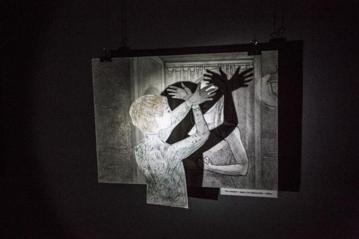 Рисунки выполнены карандашом и тушью в несколько слоёв