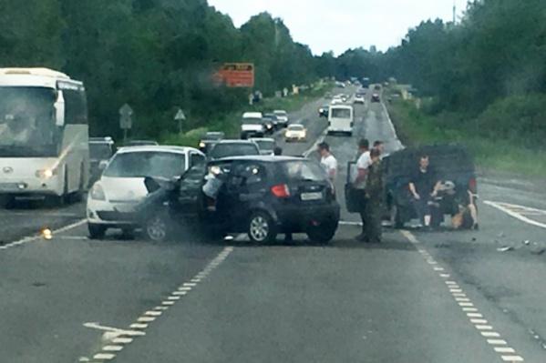 Женщина, которая ехала за рулём «Хёндая», скончалась на месте