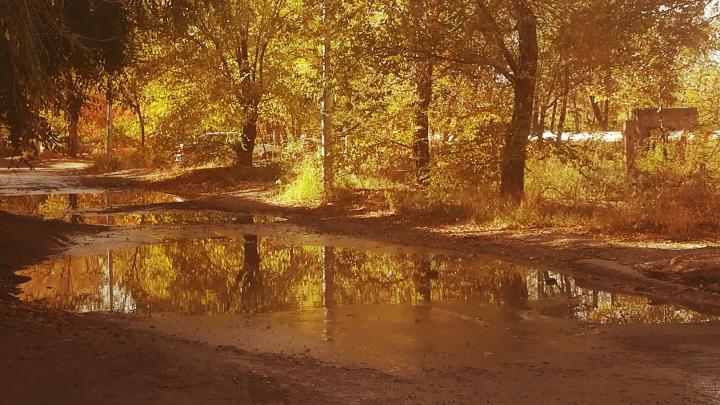 «Когда до нас дойдет цивилизация?»: на юге Волгограда утонула дорога на пути к поликлинике