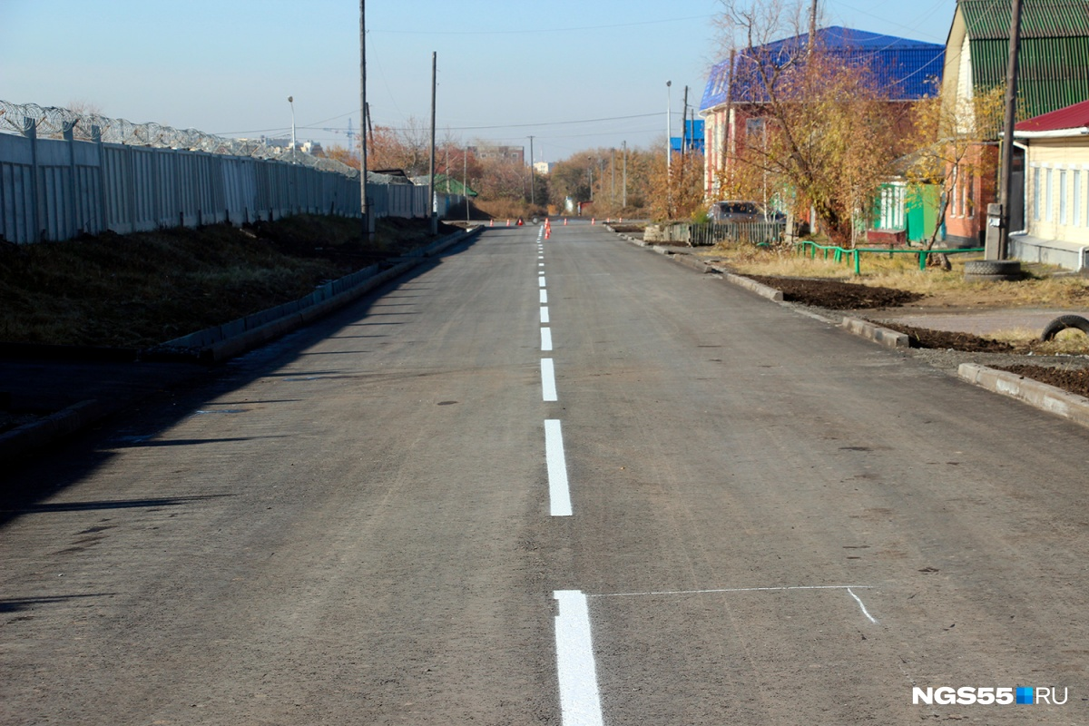 ВОмске построили новейшую дорогу за20 млн руб.