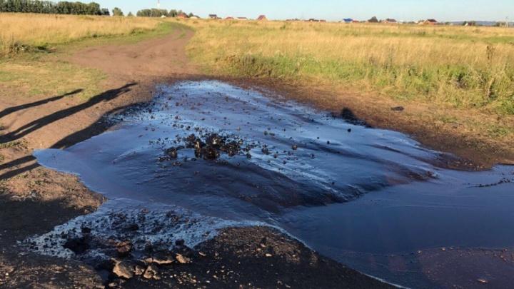 В Башкирии забил нефтяной фонтан