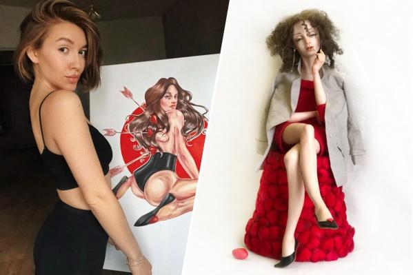 Евгения, дочь Ирины, живет в Москве и занимается иллюстрацией