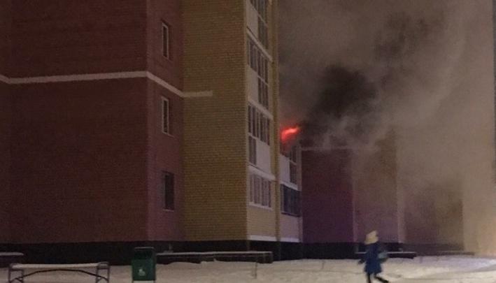 В высотке на Кремлёвской случился пожар. Есть пострадавшие