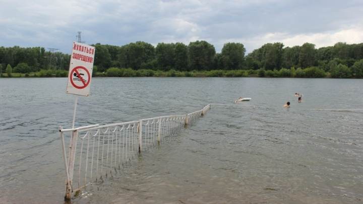 В Уфе на озере Теплое спасли тонущего ребенка