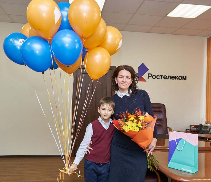 Юбилейным абонентом стала жительница Магнитогорска Галина Садовщикова