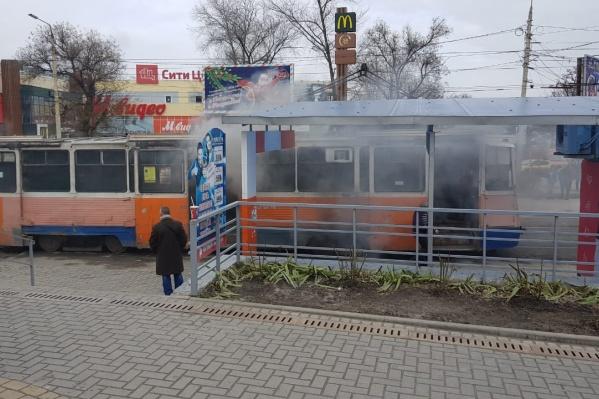 Оказалось, что как такового пламени в трамвае не было