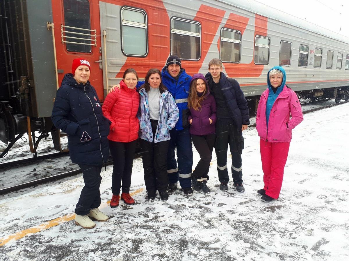 Группа «Ураловеды» путешествовала на поезде
