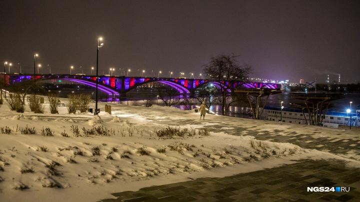 В мэрии определились, как будет работать подсветка Вантового и Коммунального моста