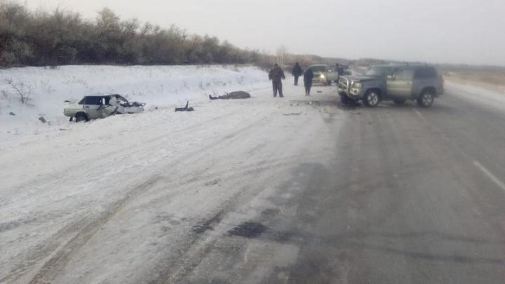 Водитель и двое детей погибли в лобовом ДТП на трассе в Новосибирской области