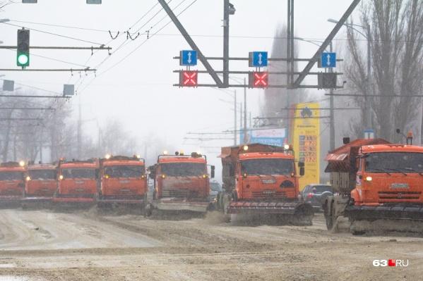 Для Самары закупили 10 тысяч тонн песко-соляной смеси еще в октябре