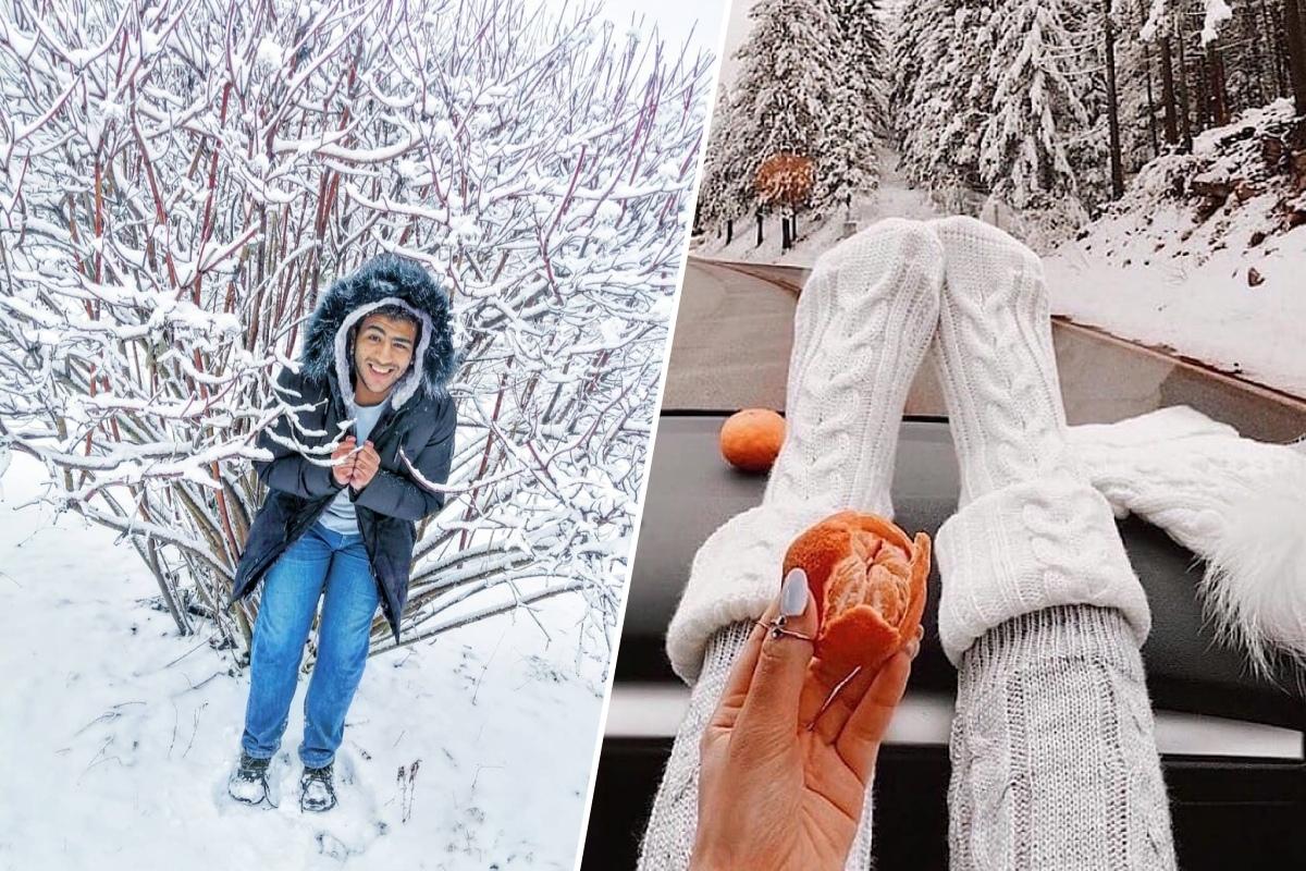 Снег и мандаринки— главные символы Нового года