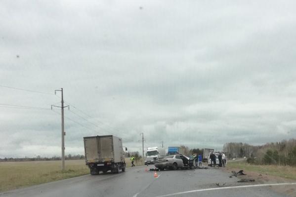 Последствия аварии на трассе