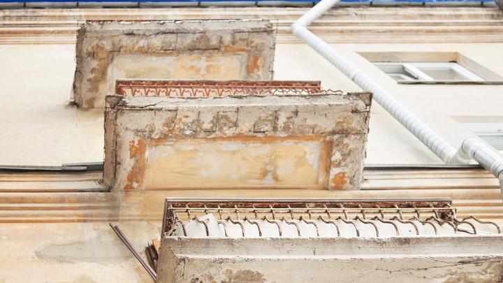 В Шумихе балкон рухнул вместе с двумя детьми