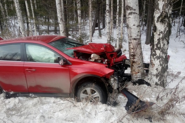 Женщина набрала пассажиров через мобильное приложение, но по пути в Екатеринбург въехала в дерево
