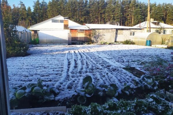 Снег в поселке Белоярском