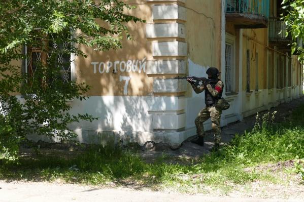 Жители близлежащих домов стали свидетелями условно контртеррористической операции
