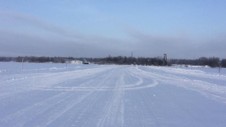 В Архангельске открыли первую в этом сезоне ледовую переправу