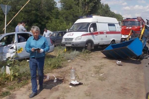 Пассажирам «Хёндай» понадобилась помощь медиков