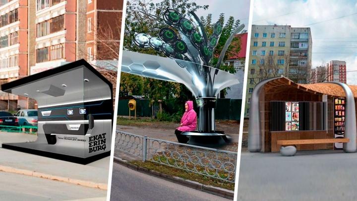 Жду трамвая! В Екатеринбурге появятся остановки класса люкс: фантазируем, каким может быть их дизайн