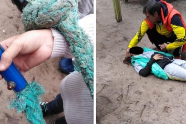 Девочка повредила спину и не могла встать