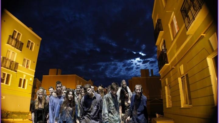 Танцующие олени и зомби: житель Крутых Ключей сделал видео и коллажи на фоне трехэтажек микрорайона
