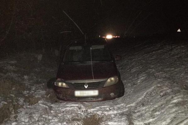 Водитель ушел в кювет в Городищенском районе