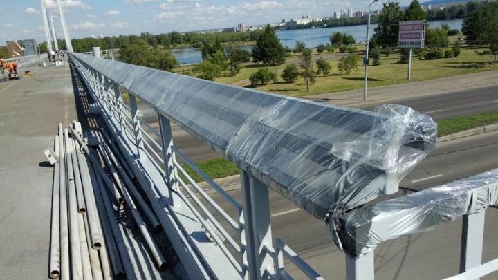 Протестирована новая подсветка вантового моста
