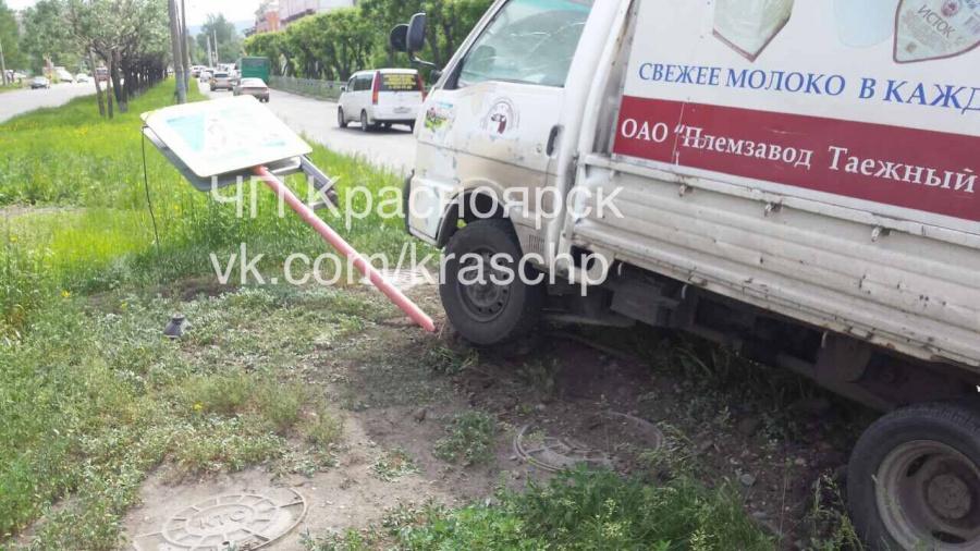 Пешеход ловко увернулся от грузового автомобиля испровоцировал ДТП