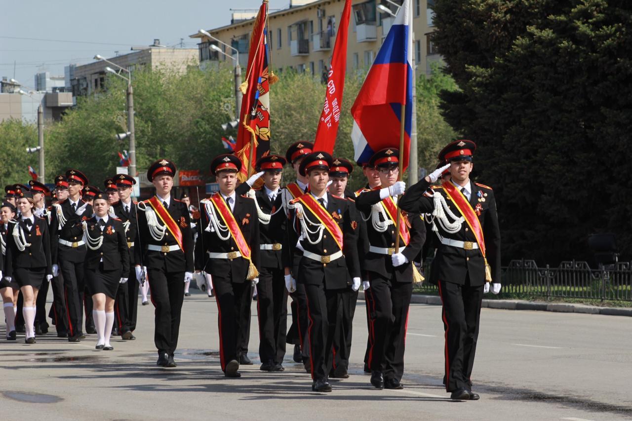 Волжане также вышли на парад в честь Победы