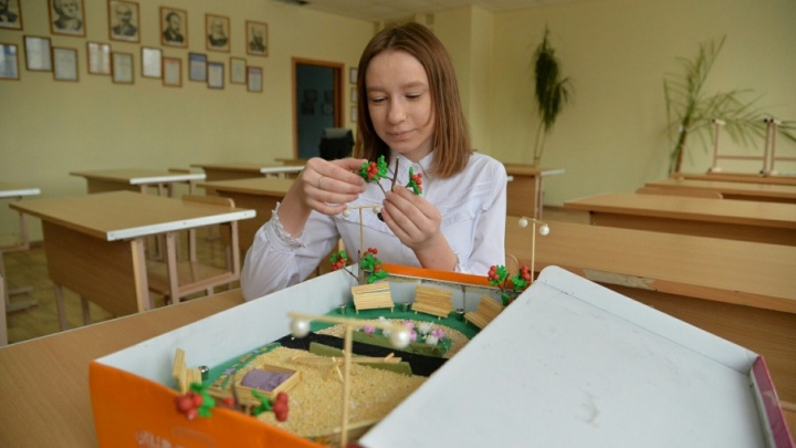 Из коробки и пластилина: школьный проект сквера на ЧМЗ признали лучшим в России