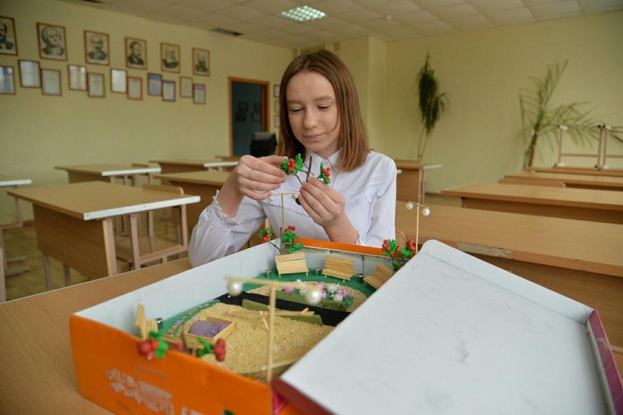 Лиза Рожкова надеется, что её проект сможет сделать воздух рядом со школой чище