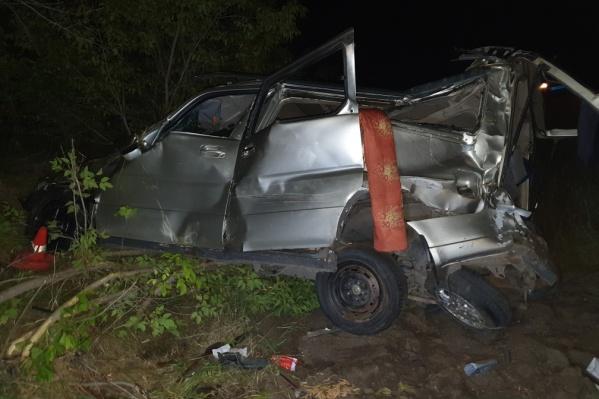 Honda Stepwgn съехала с трассы и опрокинулась в левый кювет— пострадали девять человек, одна из пострадавших позже умерла