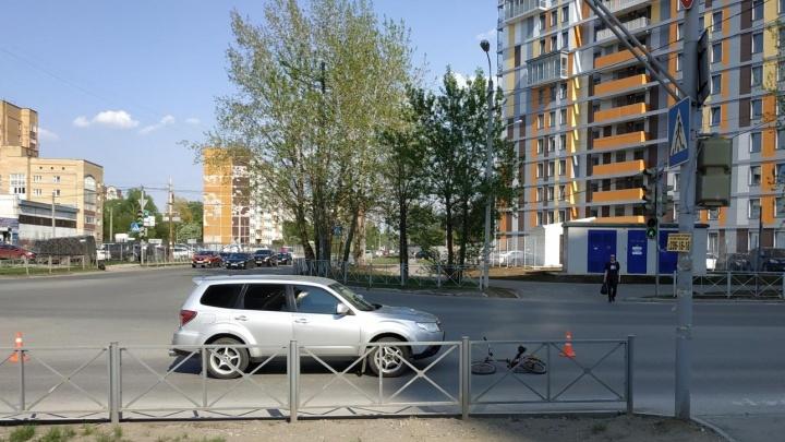 В Перми иномарка сбила 11-летнего школьника-велосипедиста