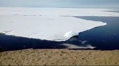 Ледоход на севере края восхищает жителей красотой
