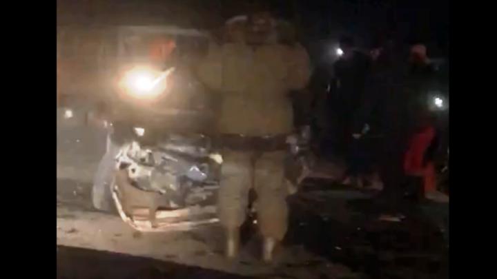 На трассе под Новосибирском столкнулись два автомобиля— есть пострадавшие